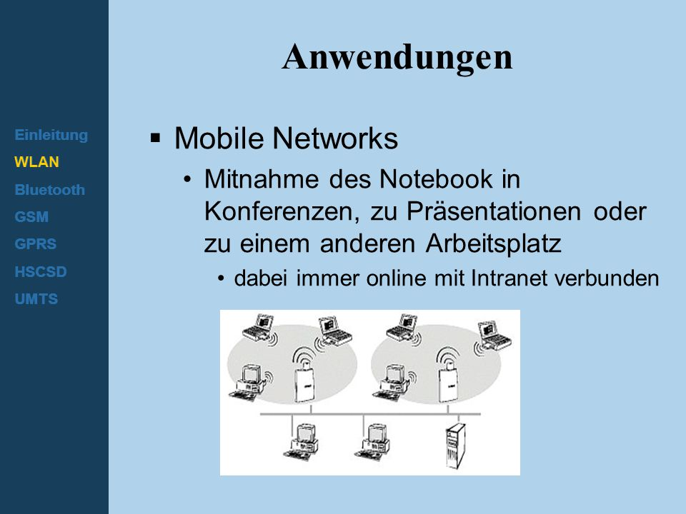 Anwendungen Mobile Networks