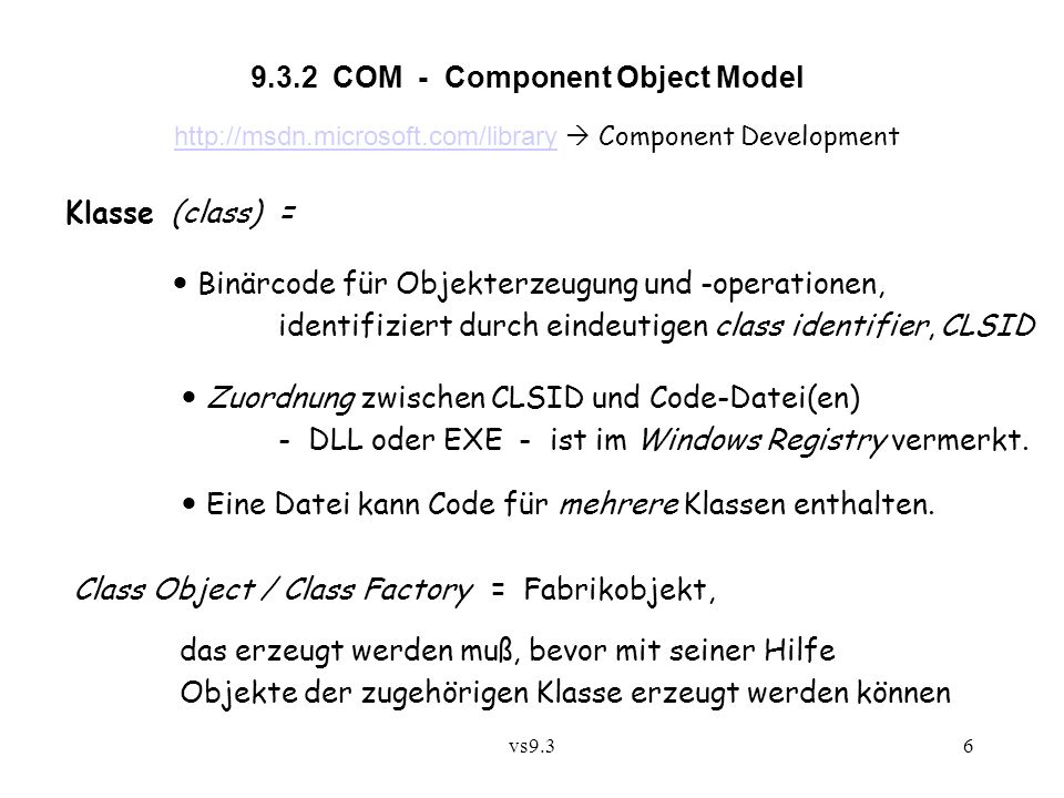 9.3.2 COM - Component Object Model