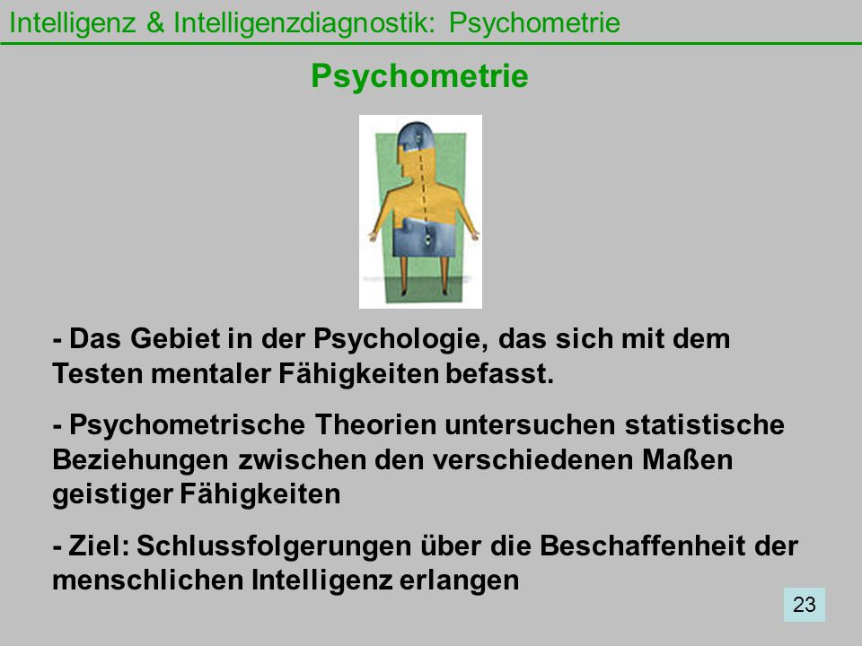 Psychometrie Intelligenz & Intelligenzdiagnostik: Psychometrie