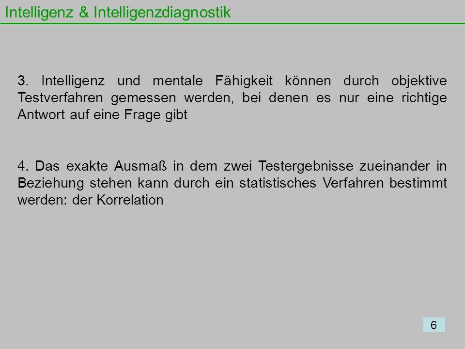 Intelligenz & Intelligenzdiagnostik
