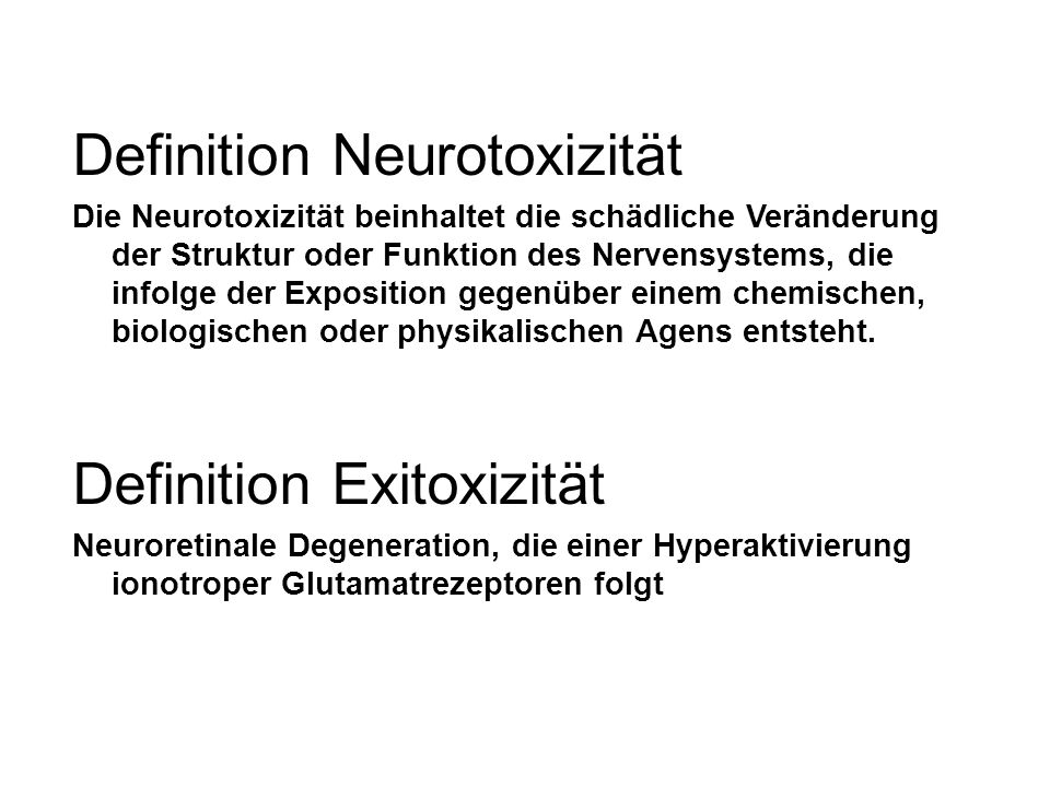 Definition Neurotoxizität