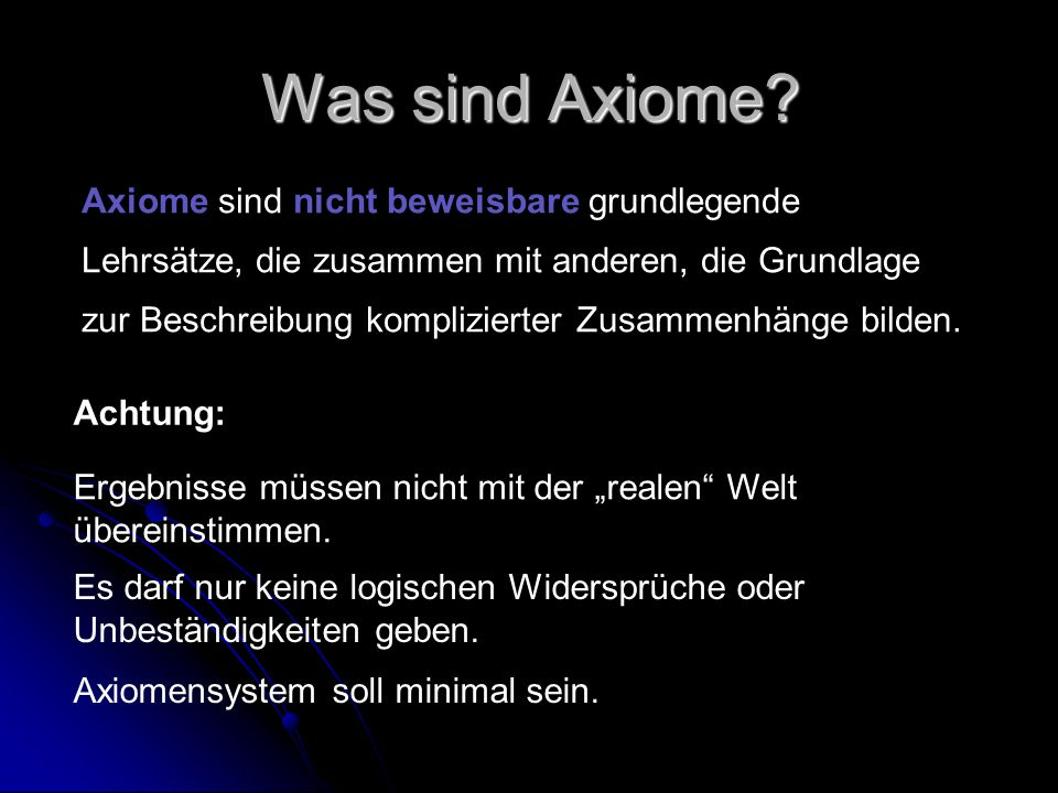 Was sind Axiome