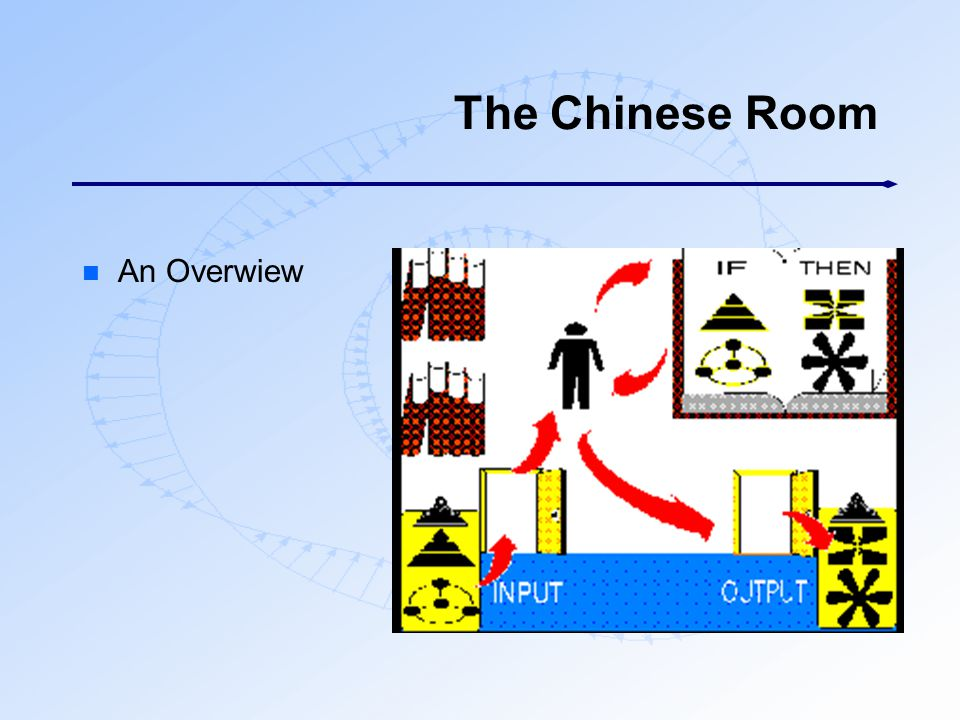 The Chinese Room An Overwiew