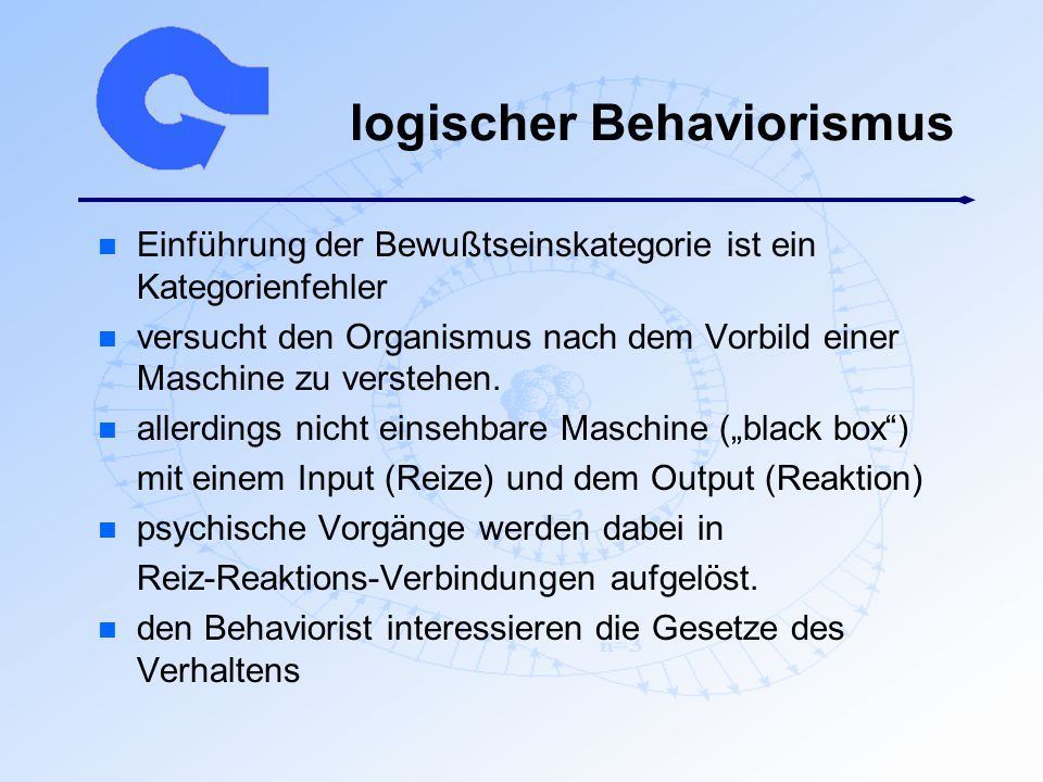 logischer Behaviorismus