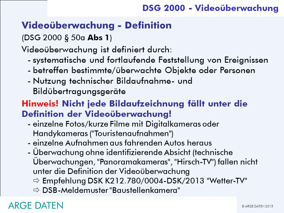 Videoüberwachung - Definition