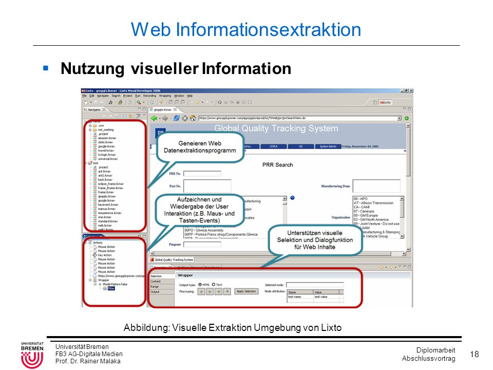Web Informationsextraktion