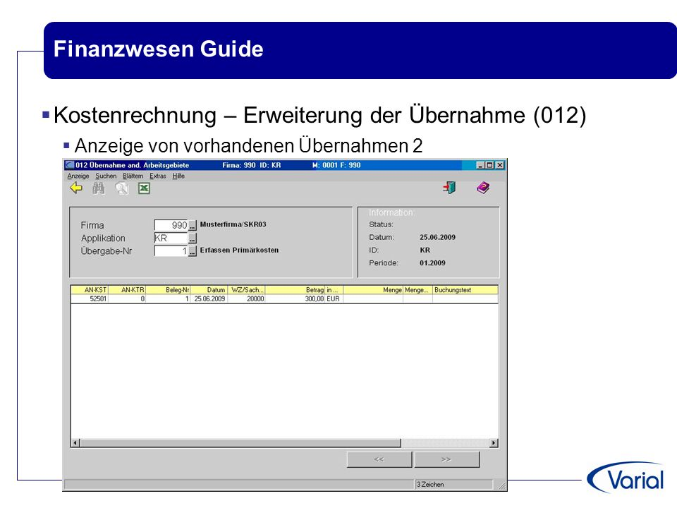 Varial Releaseworkshop Finanzwesen VWE 1.80 Guide ppt video online ...