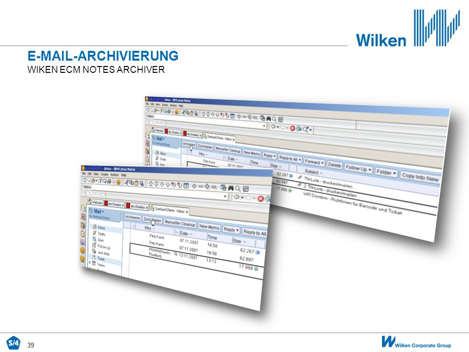 E-Mail-archivierung Wiken ecm Notes archiver
