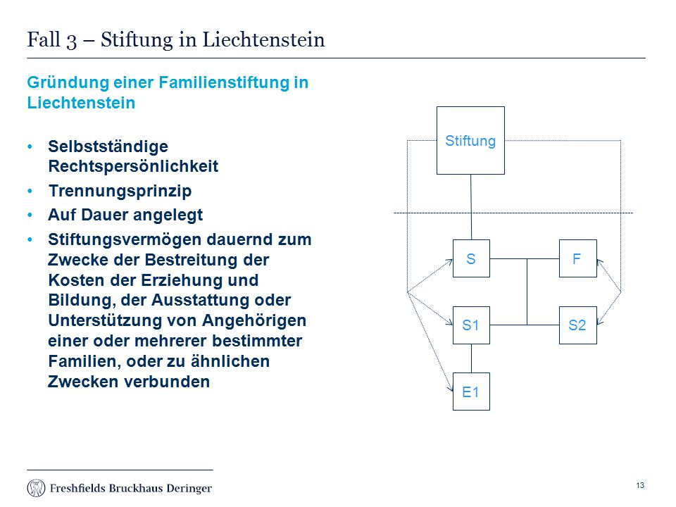Fall 3 – Stiftung in Liechtenstein