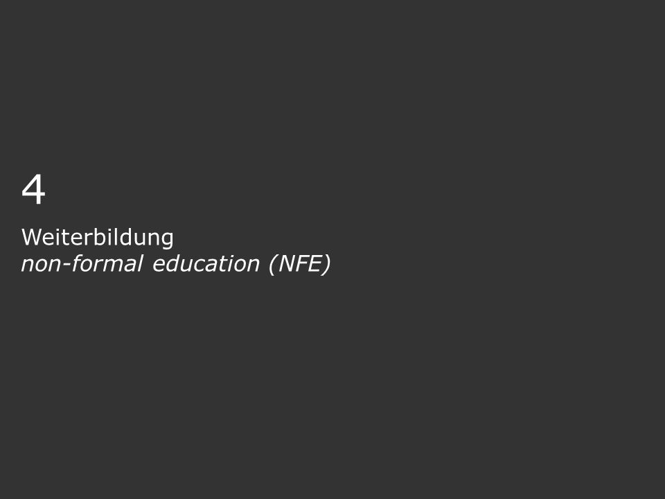 Weiterbildung non-formal education (NFE)