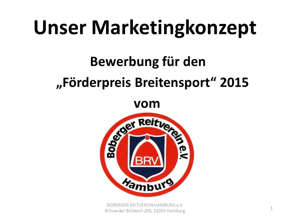 Unser Marketingkonzept