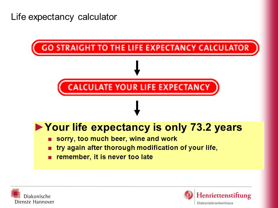 Life expectancy calculator