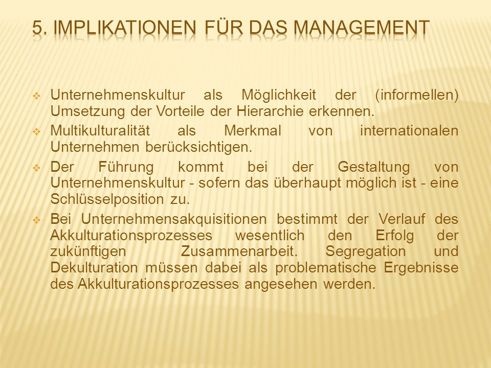 5. Implikationen für das Management