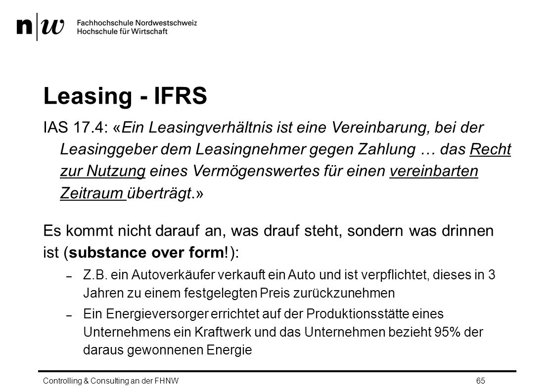 Leasing - IFRS