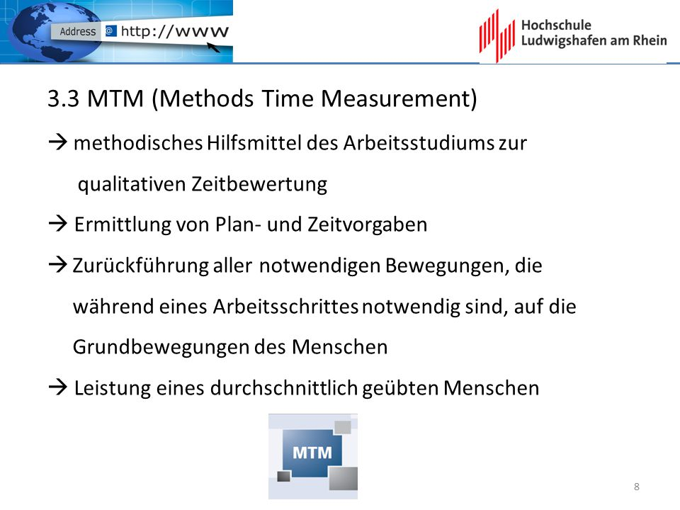 3.3 MTM (Methods Time Measurement)