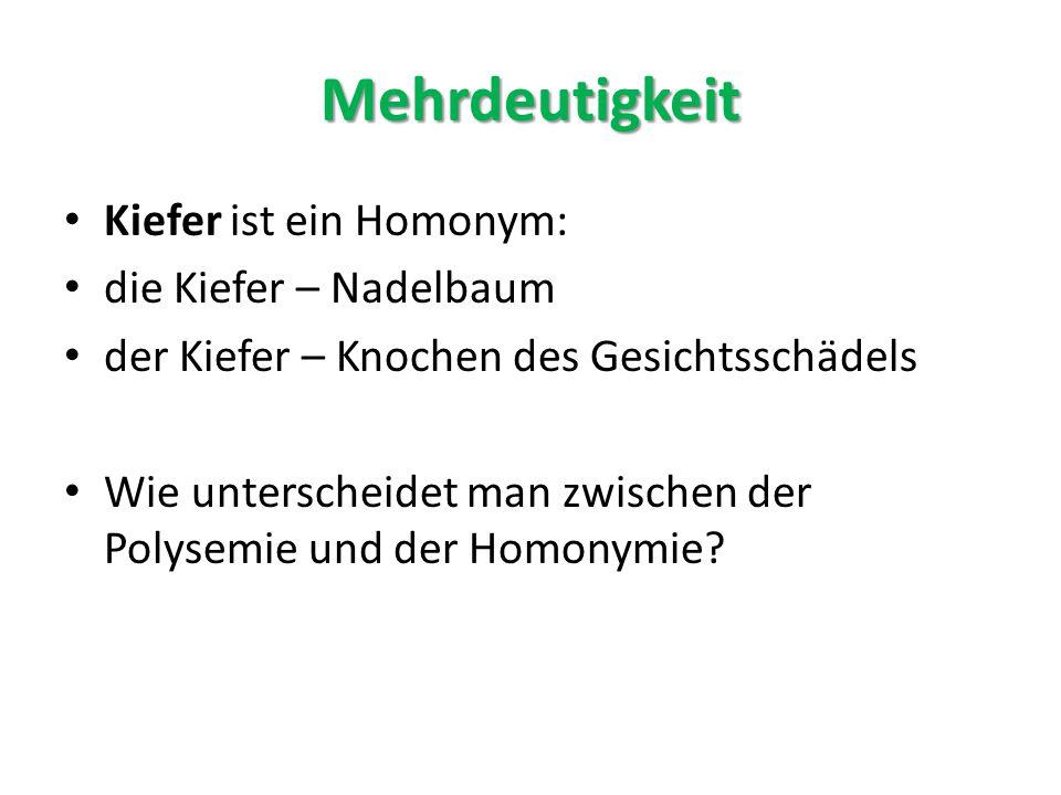 Polysemie Und Homonymie Online Presentation 5