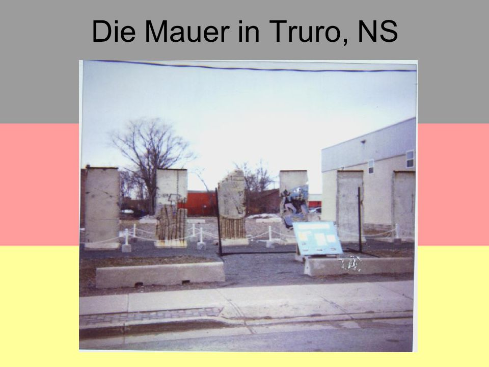 Die Mauer in Truro, NS