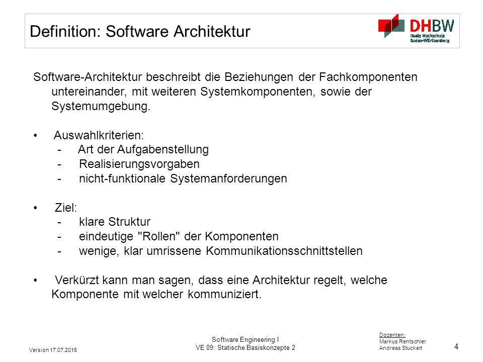Vorlesung Software Engineering I - ppt herunterladen