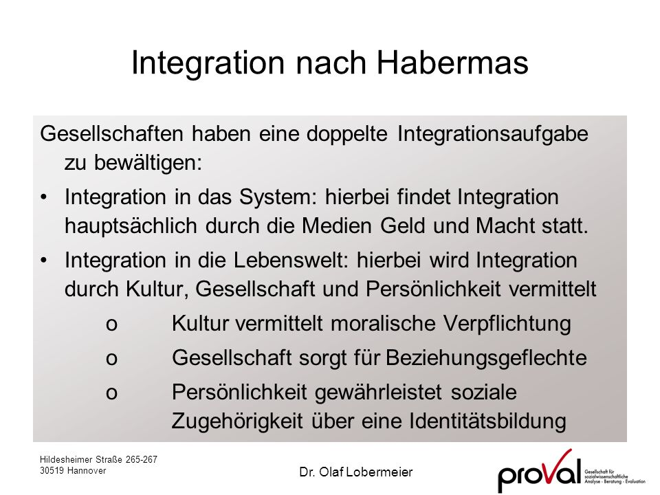Integration nach Habermas