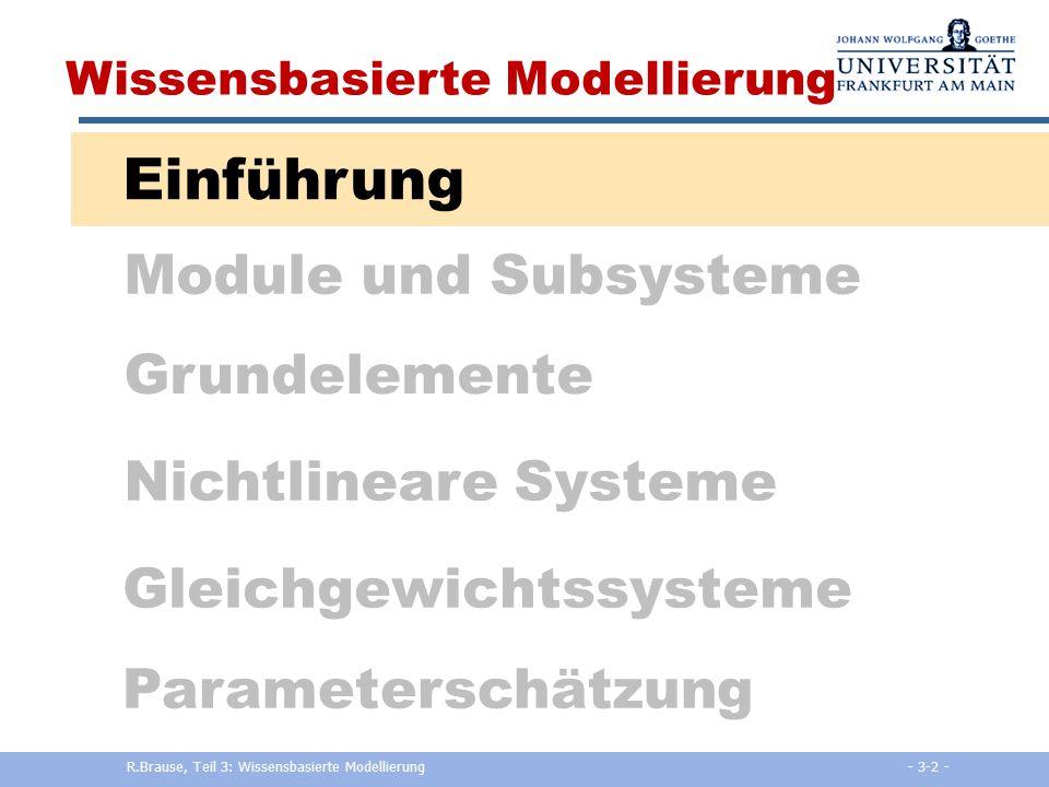 Adaptive Modellierung und Simulation Kapitel 3: Wissensbasierte ...