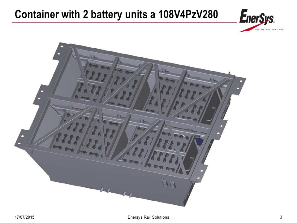 Container with 2 battery units a 108V4PzV280