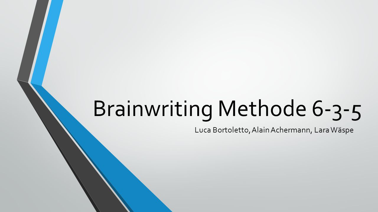 Brainwriting Methode 6-3-5