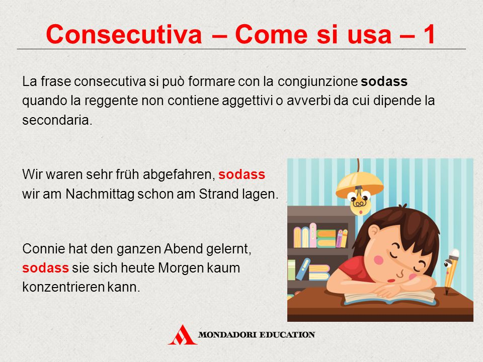 Consecutiva – Come si usa – 1
