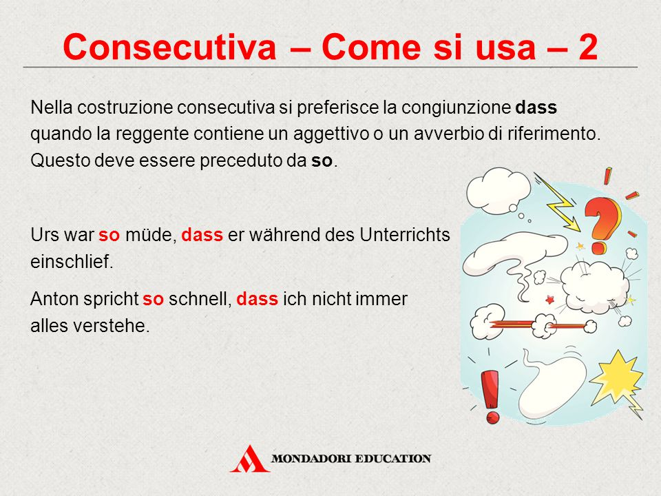 Consecutiva – Come si usa – 2