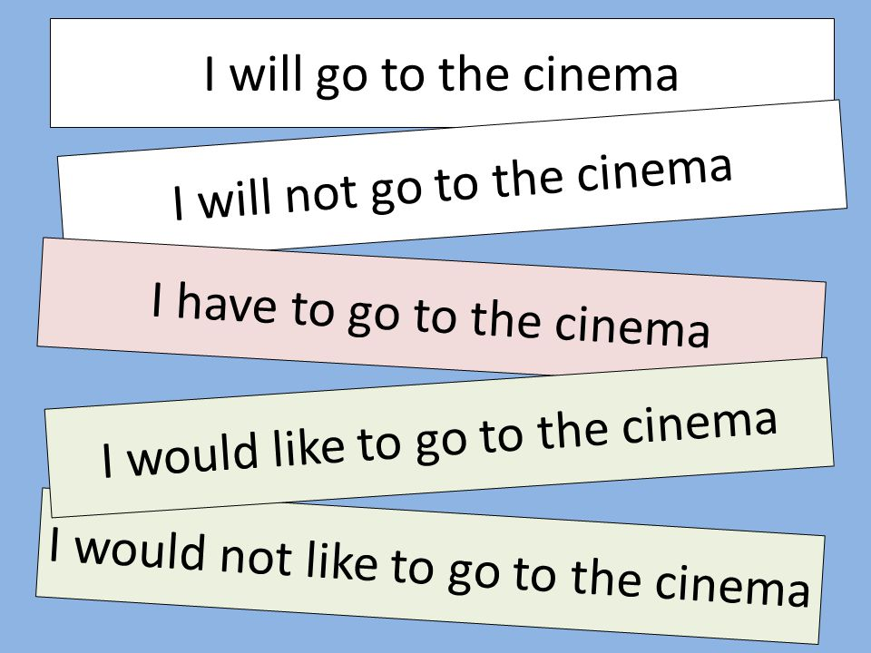 I will not go to the cinema