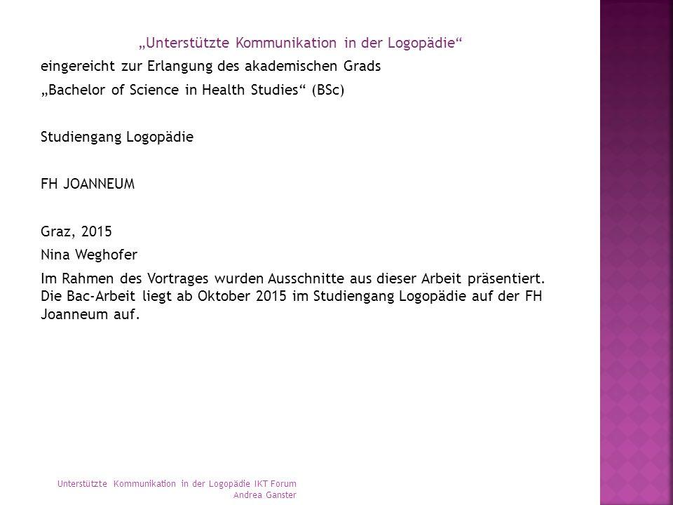 Unterstützte Kommunikation und Logopädie - ppt video online ...