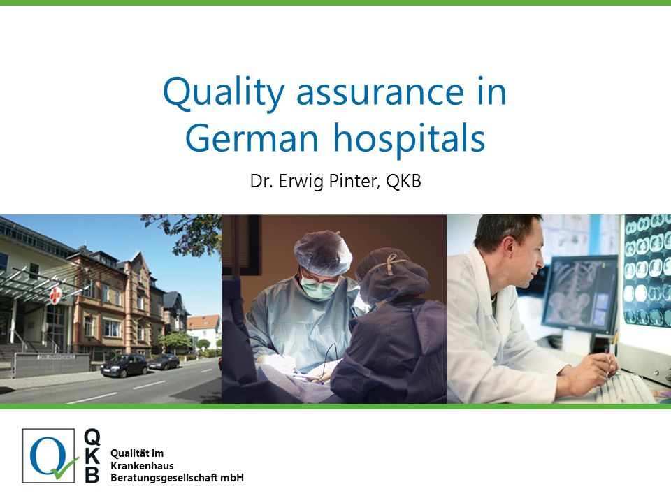 Quality assurance in German hospitals