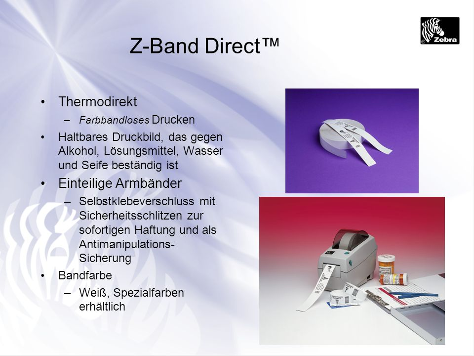 Z-Band Direct™ Thermodirekt Einteilige Armbänder
