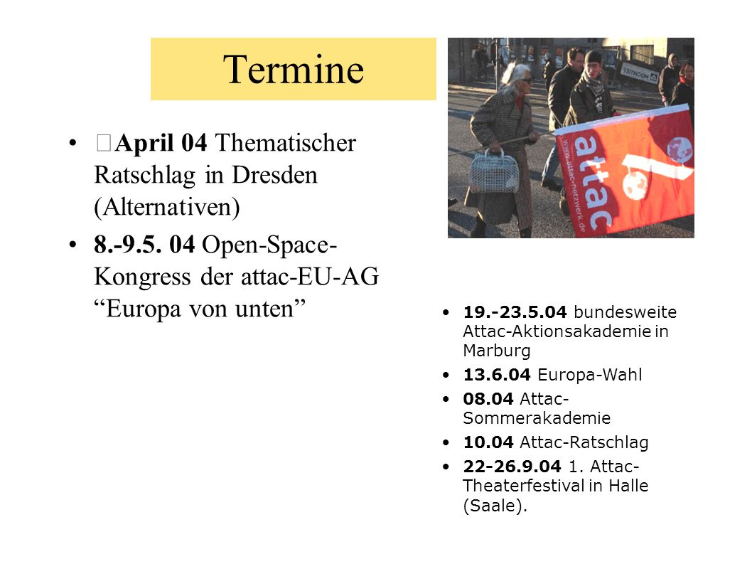 Termine April 04 Thematischer Ratschlag in Dresden (Alternativen)