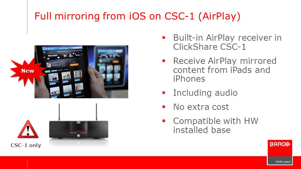 Full mirroring from iOS on CSC-1 (AirPlay)