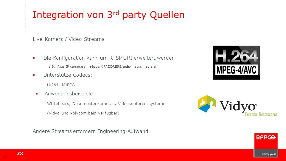 Integration von 3rd party Quellen