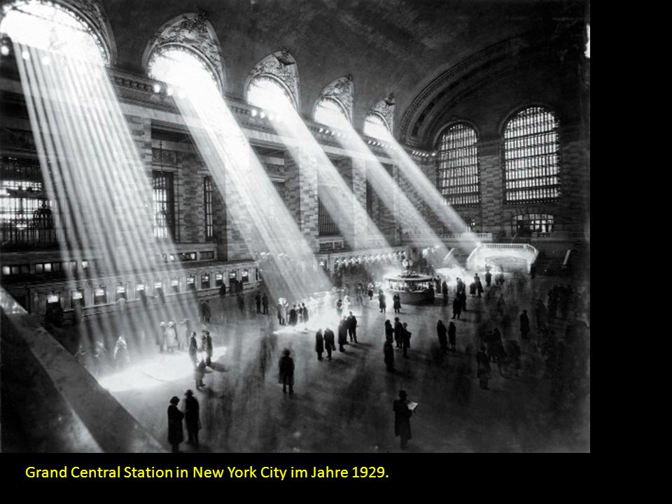 Grand Central Station in New York City im Jahre 1929.