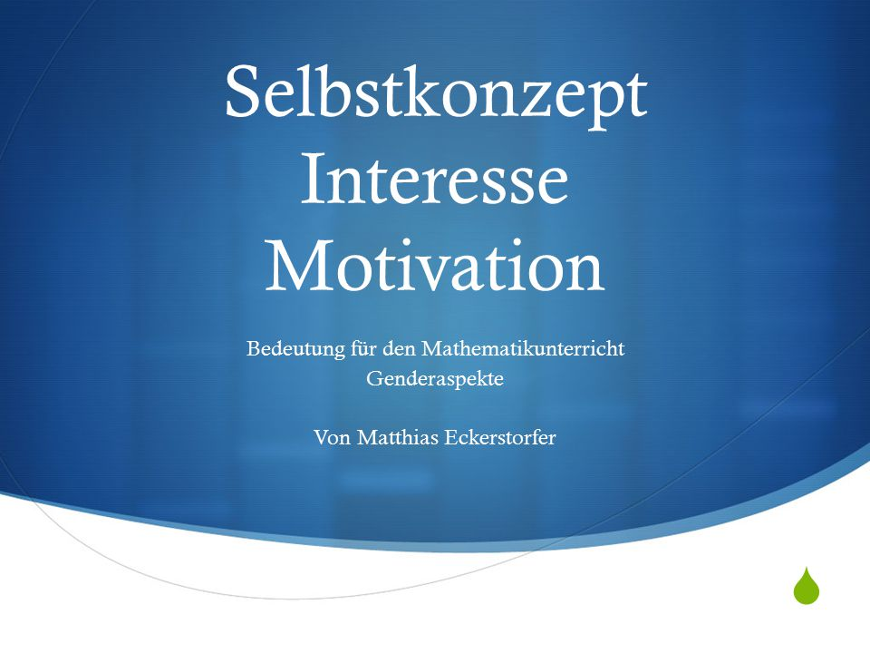 Selbstkonzept Interesse Motivation