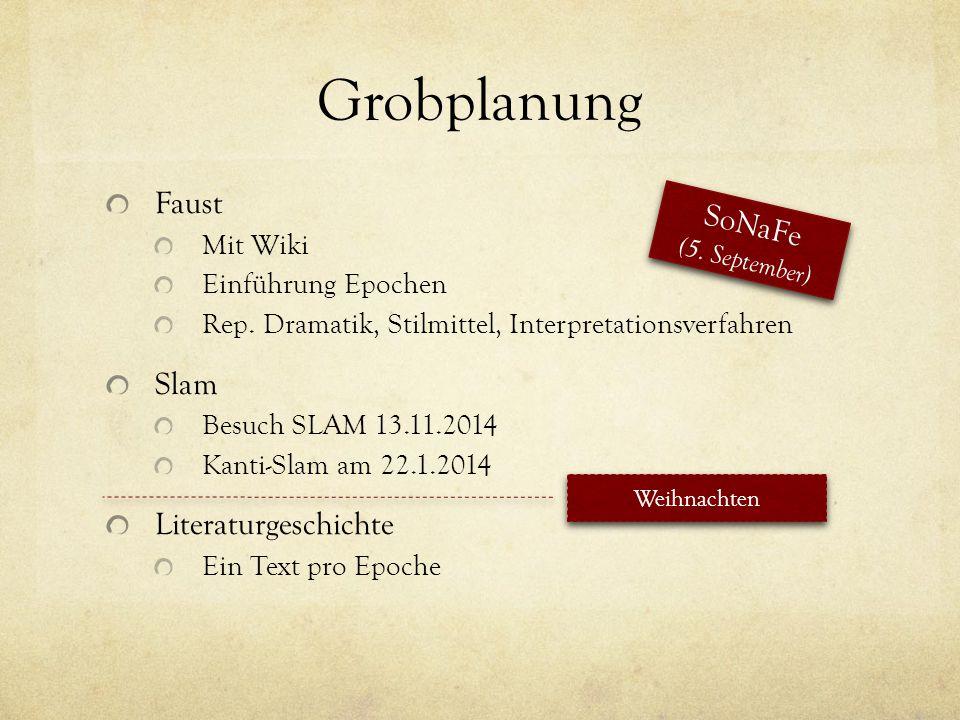 Grobplanung Faust SoNaFe Slam Literaturgeschichte Mit Wiki - ppt ...