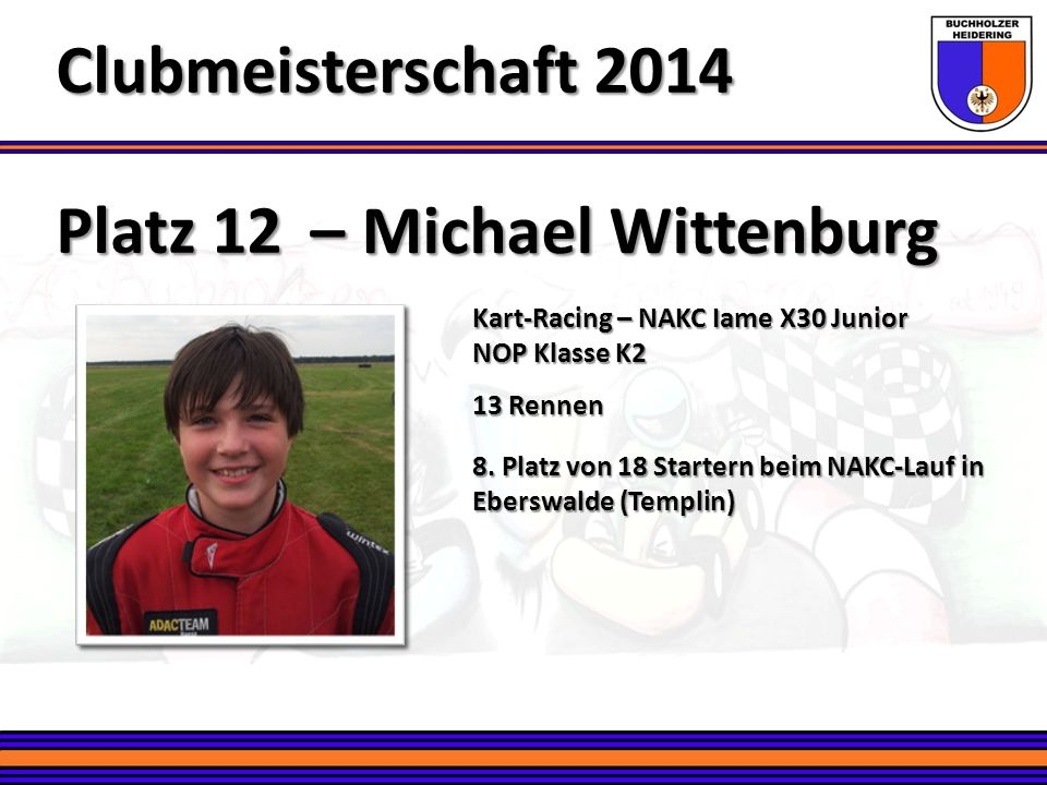 Clubmeisterschaft 2014 Platz 12 – Michael Wittenburg