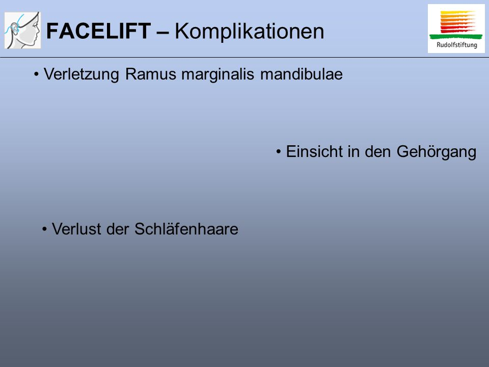 FACELIFT – Komplikationen