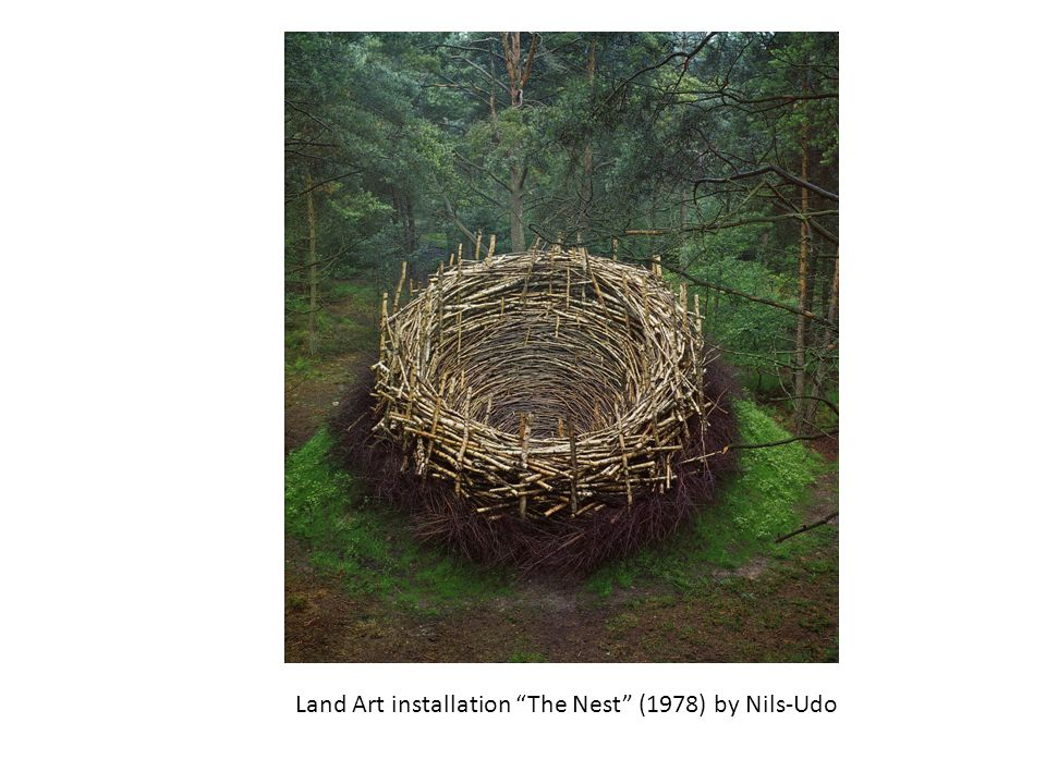 Land Art installation The Nest (1978) by Nils-Udo