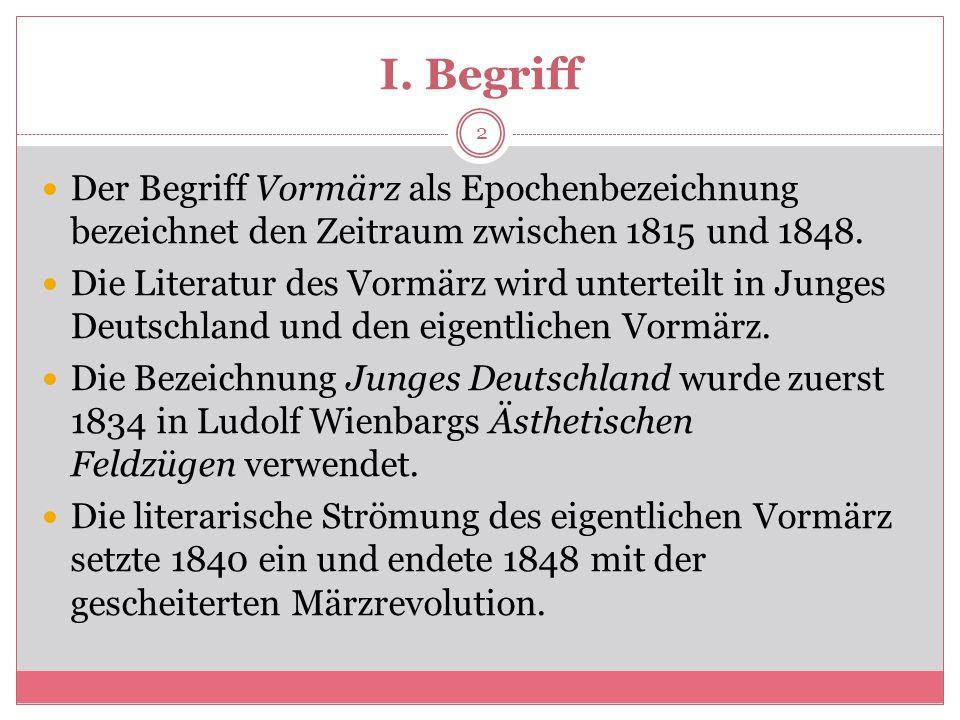 Junges Deutschland Und Vormärz Ppt Herunterladen