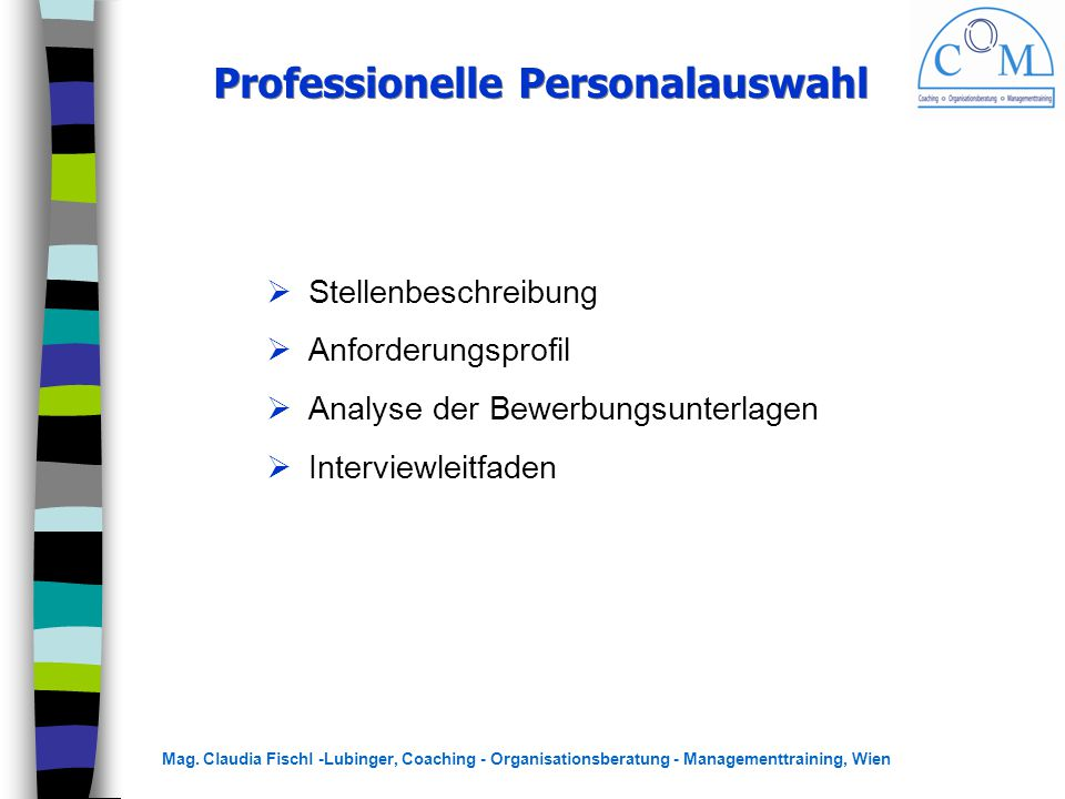 Professionelle Personalauswahl