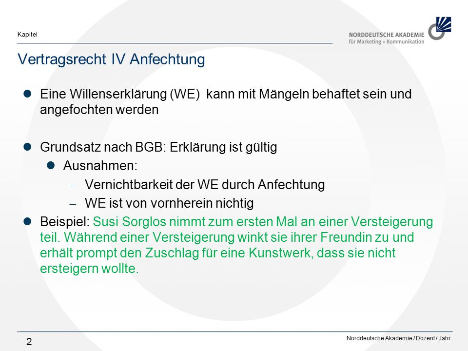 Vertragsrecht Iv Anfechtung Ppt Video Online Herunterladen