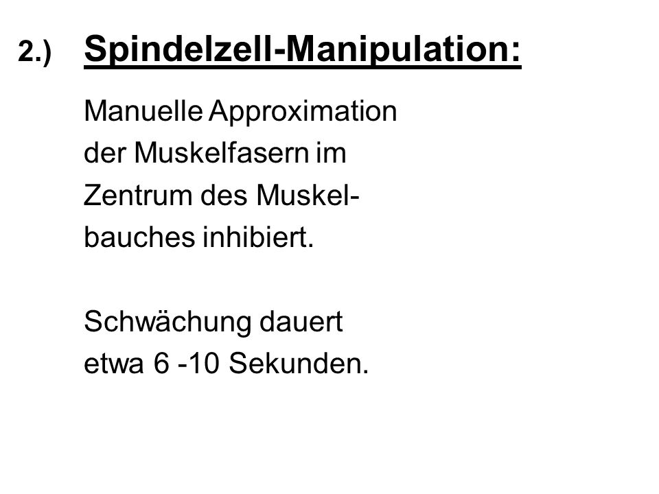 2.) Spindelzell-Manipulation: