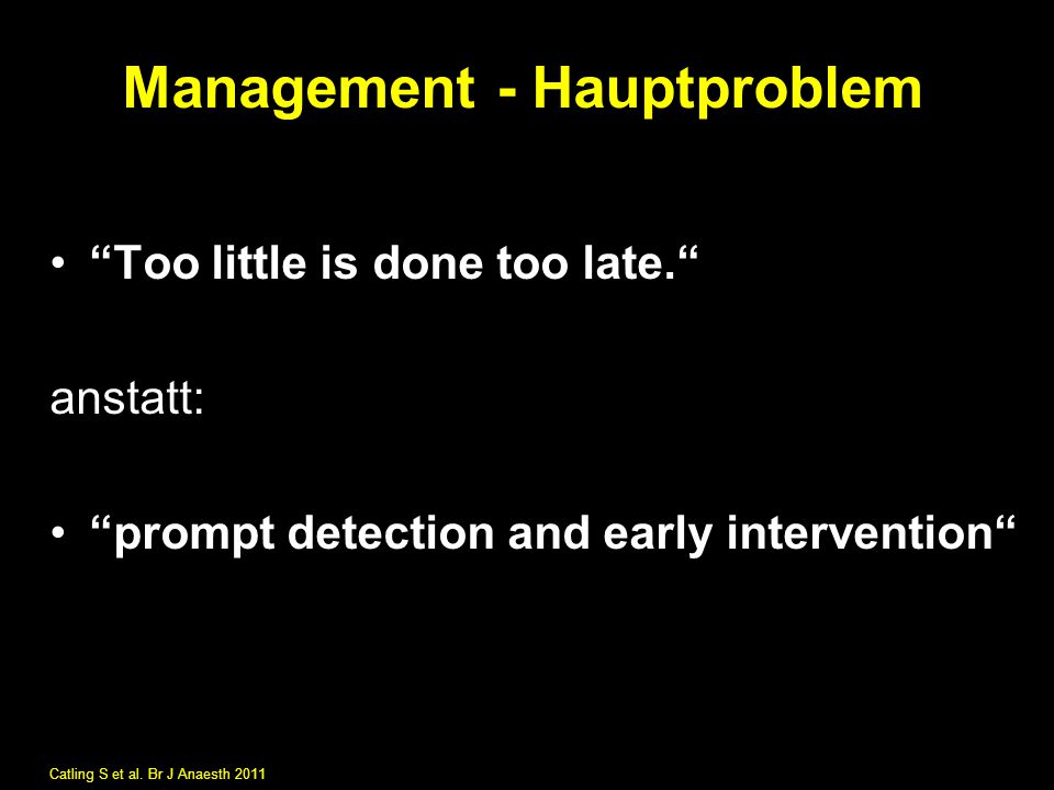 Management - Hauptproblem