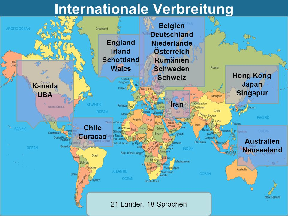 Internationale Verbreitung