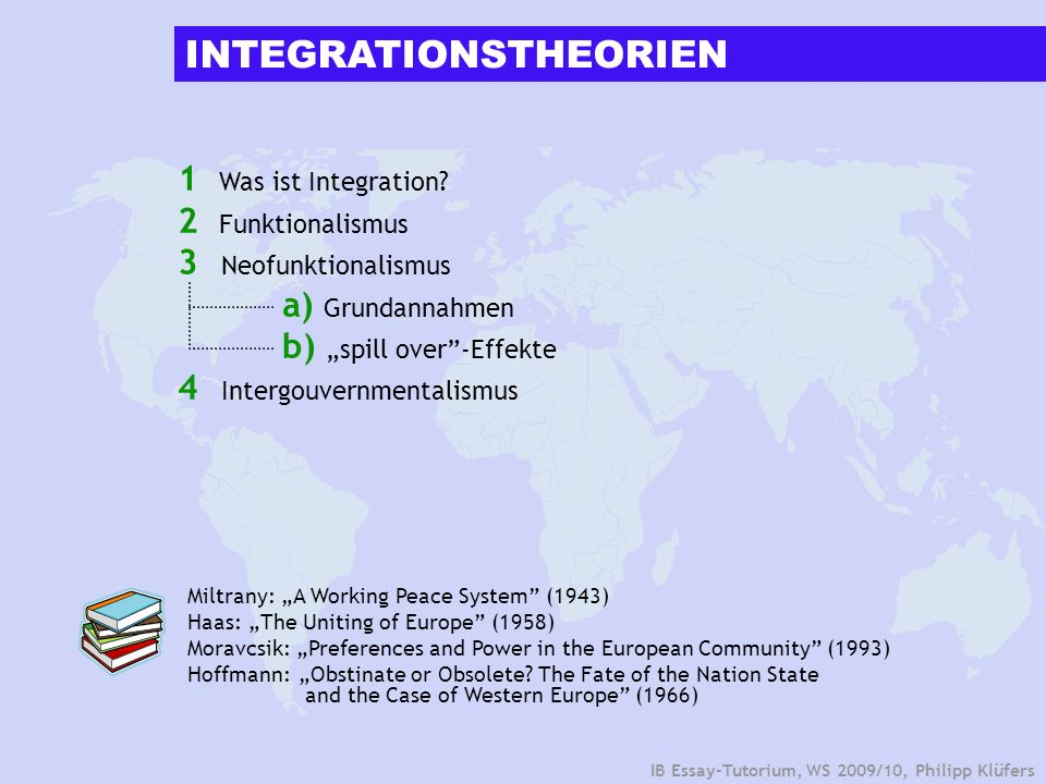 INTEGRATIONSTHEORIEN
