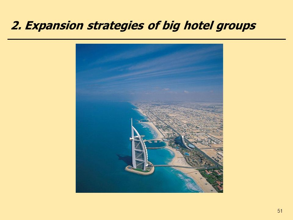 2. Expansion strategies of big hotel groups