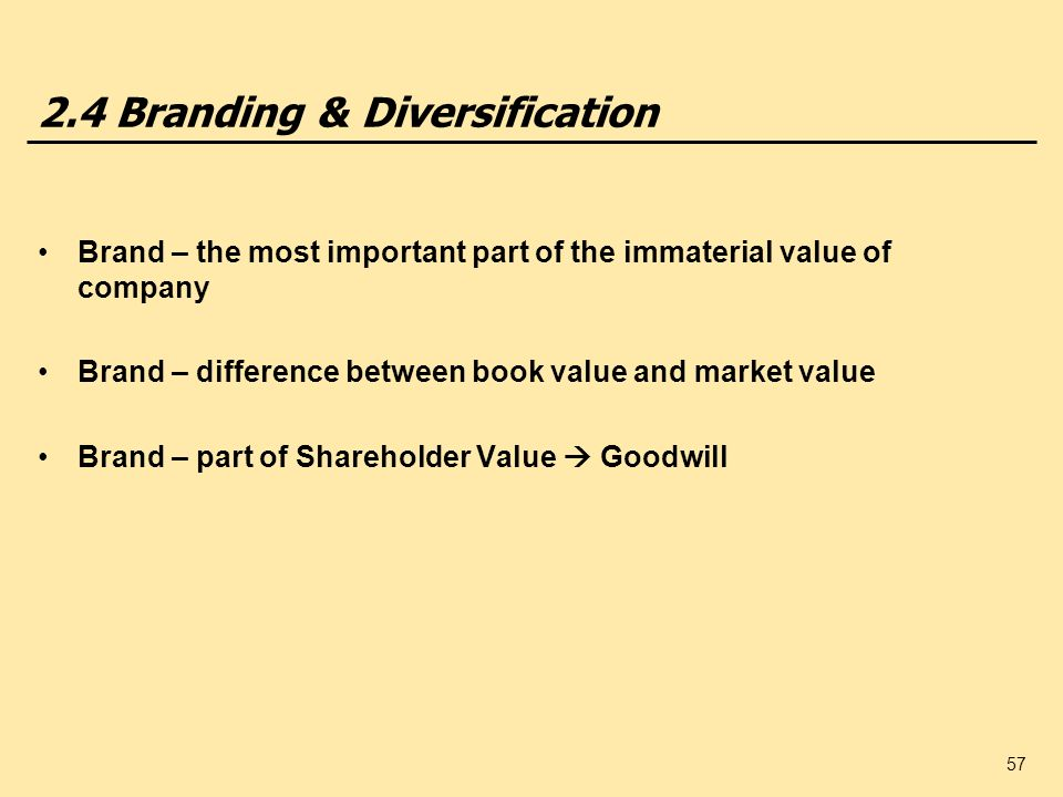 2.4 Branding & Diversification